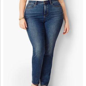 🌻Talbots Hi Rise Straight Leg Curvy Jeans Sz 24W